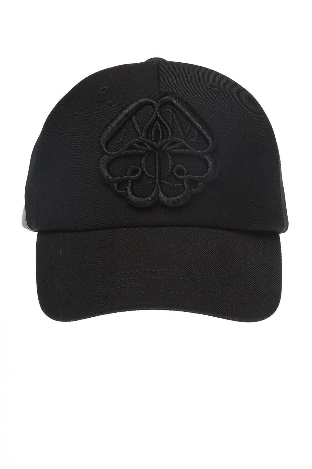 0ee75663d5a907 Alexander McQueen Embroidered Baseball Cap in Black for Men - Save ...