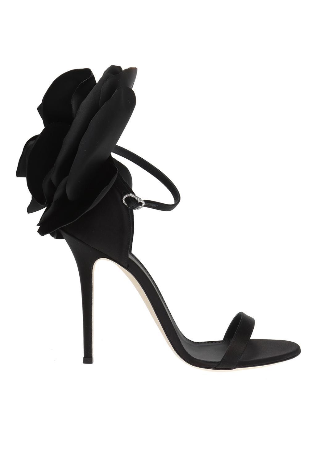 84bcf643222 Lyst - Giuseppe Zanotti  alien  Heeled Sandals in Black