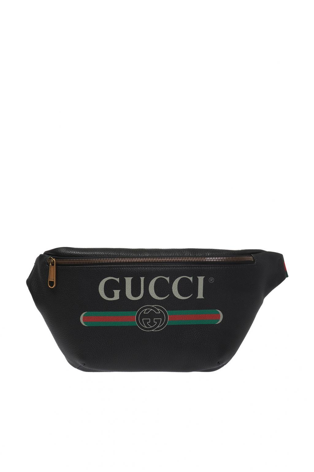 337683783bdb2 Gucci - Black  web  Stripe Belt Bag for Men - Lyst. View fullscreen