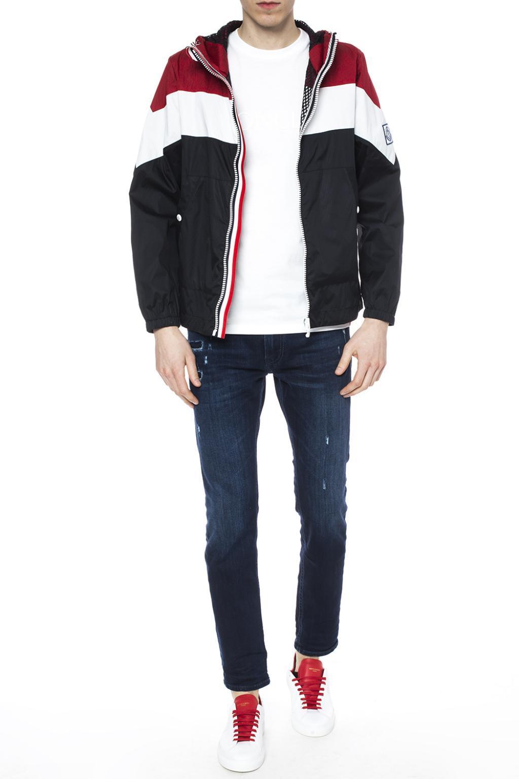 c0438eae7 Lyst - Moncler Hooded Jacket in Black for Men