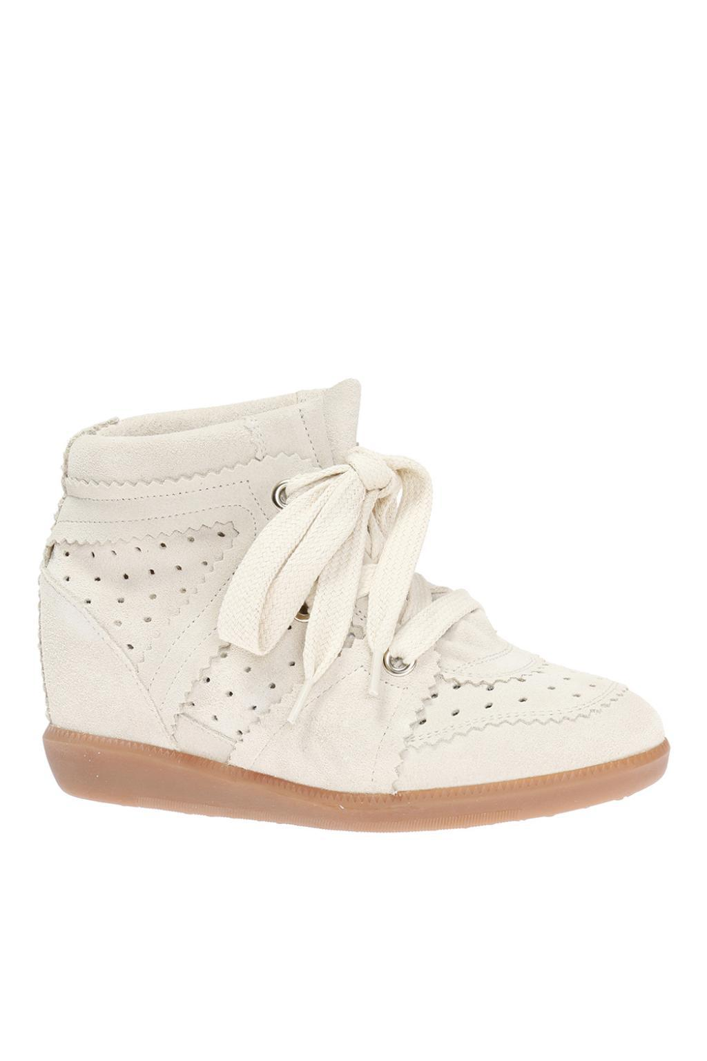 757a5edae0b Isabel Marant - White 'bobby' Wedge Sneakers - Lyst. View fullscreen