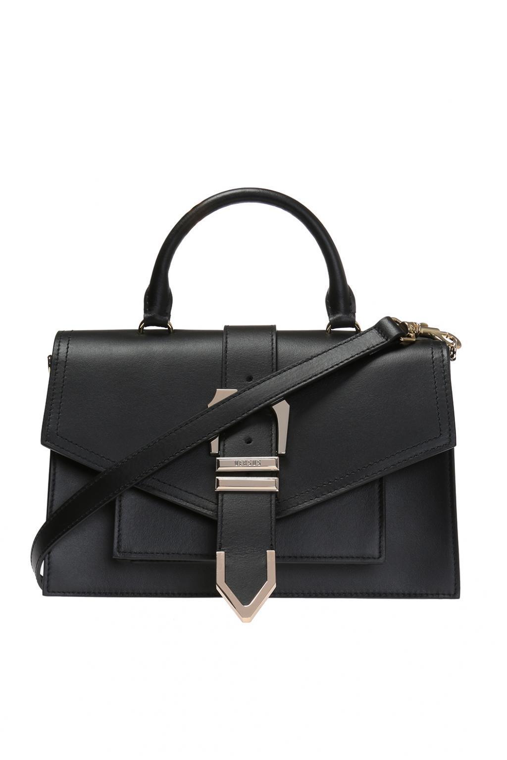 Versus Iconic eyelet-buckle shoulder bag - Black Zsdw4a