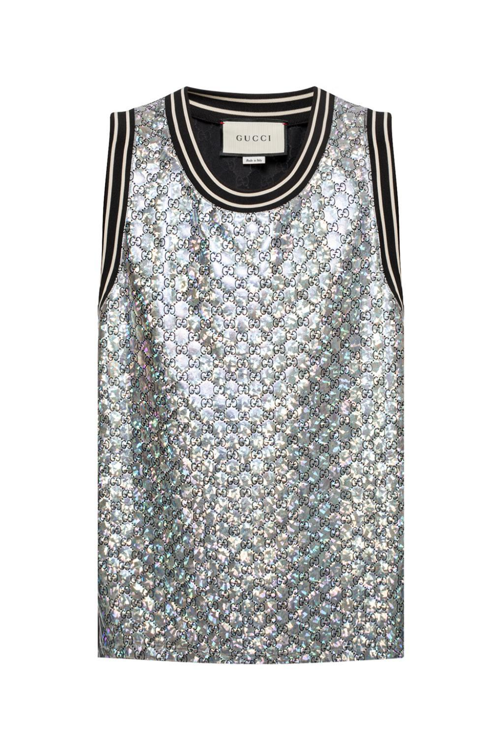 492515d5 Gucci Quilted GG Tank-top in Metallic for Men - Save 38% - Lyst
