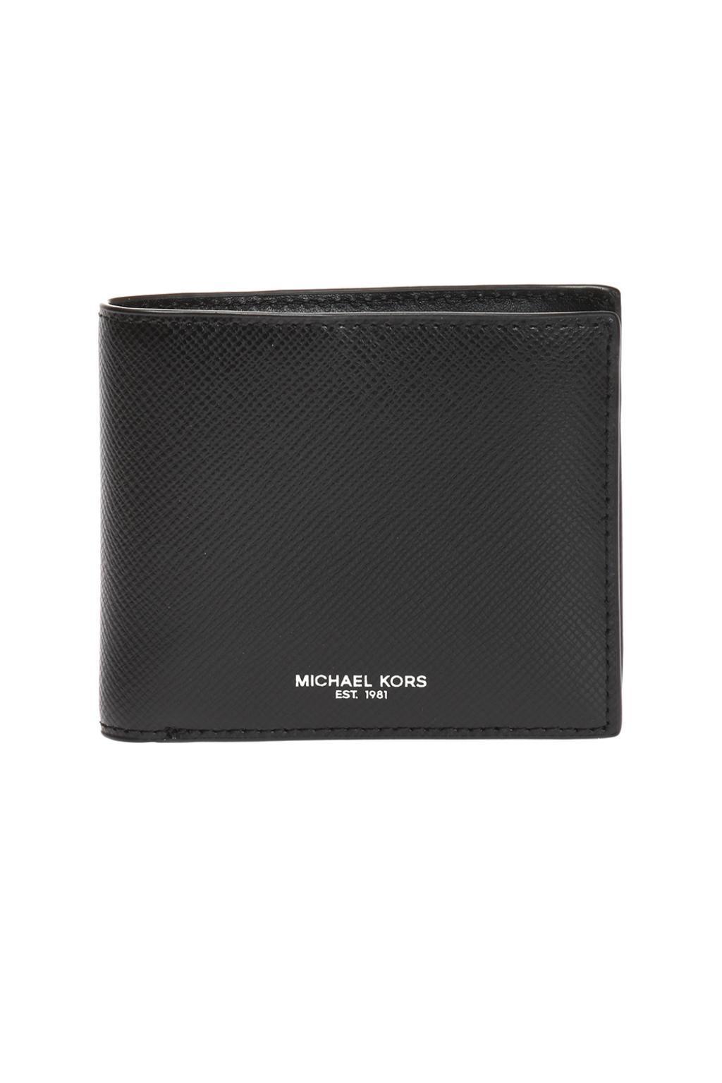 8e1b26ae7bc3 Michael Kors 'harrison' Fold Over Wallet in Black for Men - Save 12 ...