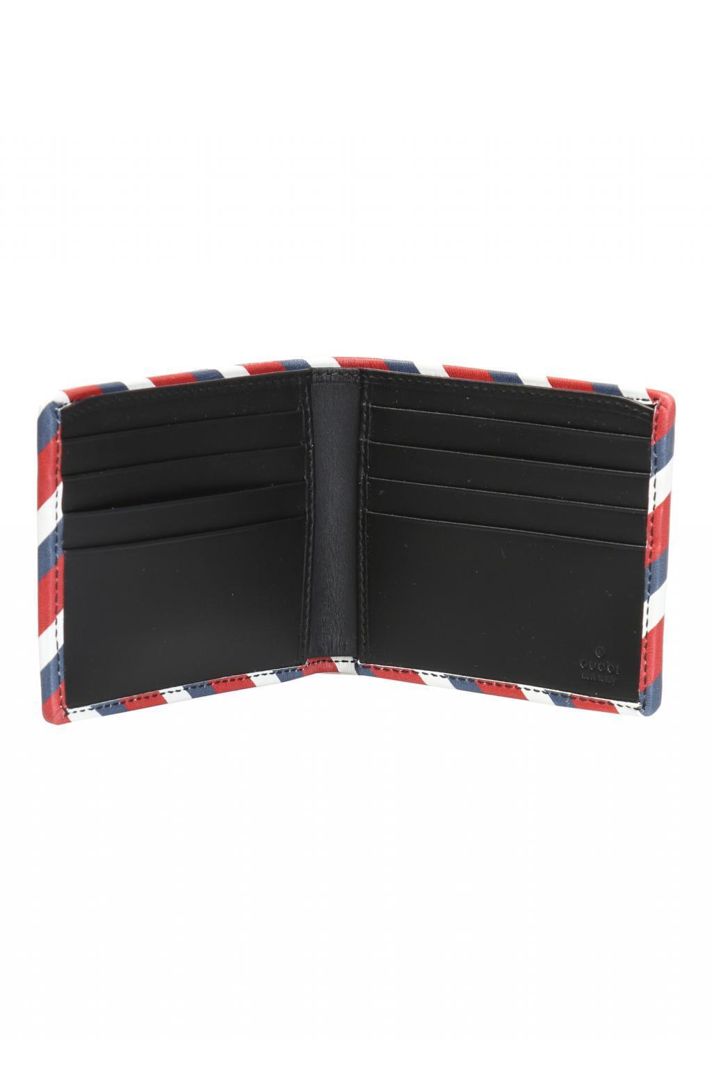9780d72300cb Gucci - Multicolor 'GG Supreme' Canvas Bi-fold Wallet for Men - Lyst. View  fullscreen