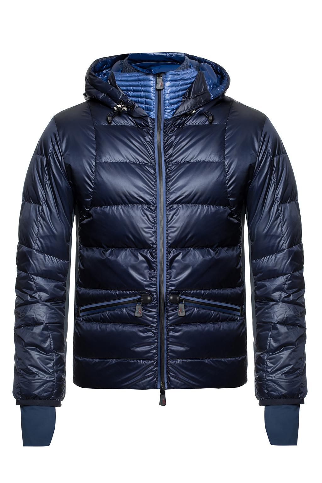 3869eab1f46a6 Lyst - Moncler Grenoble Hooded Down Jacket in Blue for Men