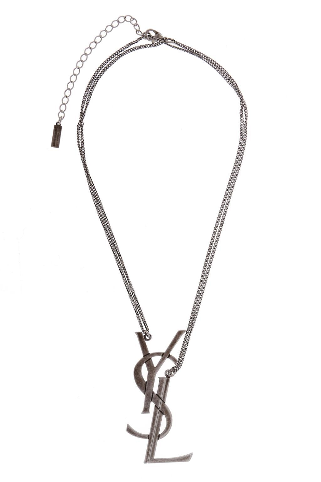 Saint Laurent LouLou twisted necklace - Metallic PgHFDIun