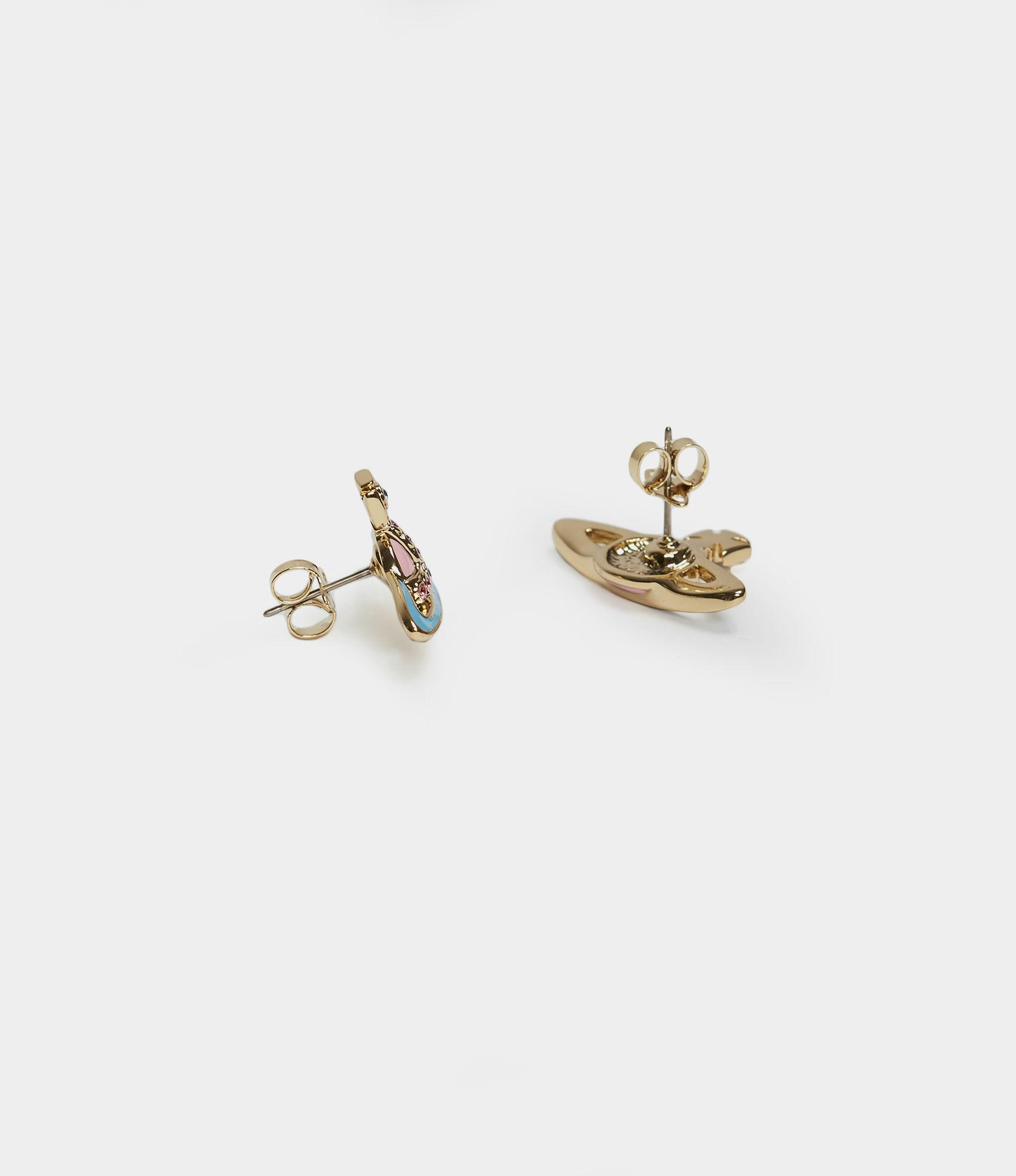 e12e03749 Vivienne Westwood - Metallic Small Neo Bas Relief Earrings - Lyst. View  fullscreen