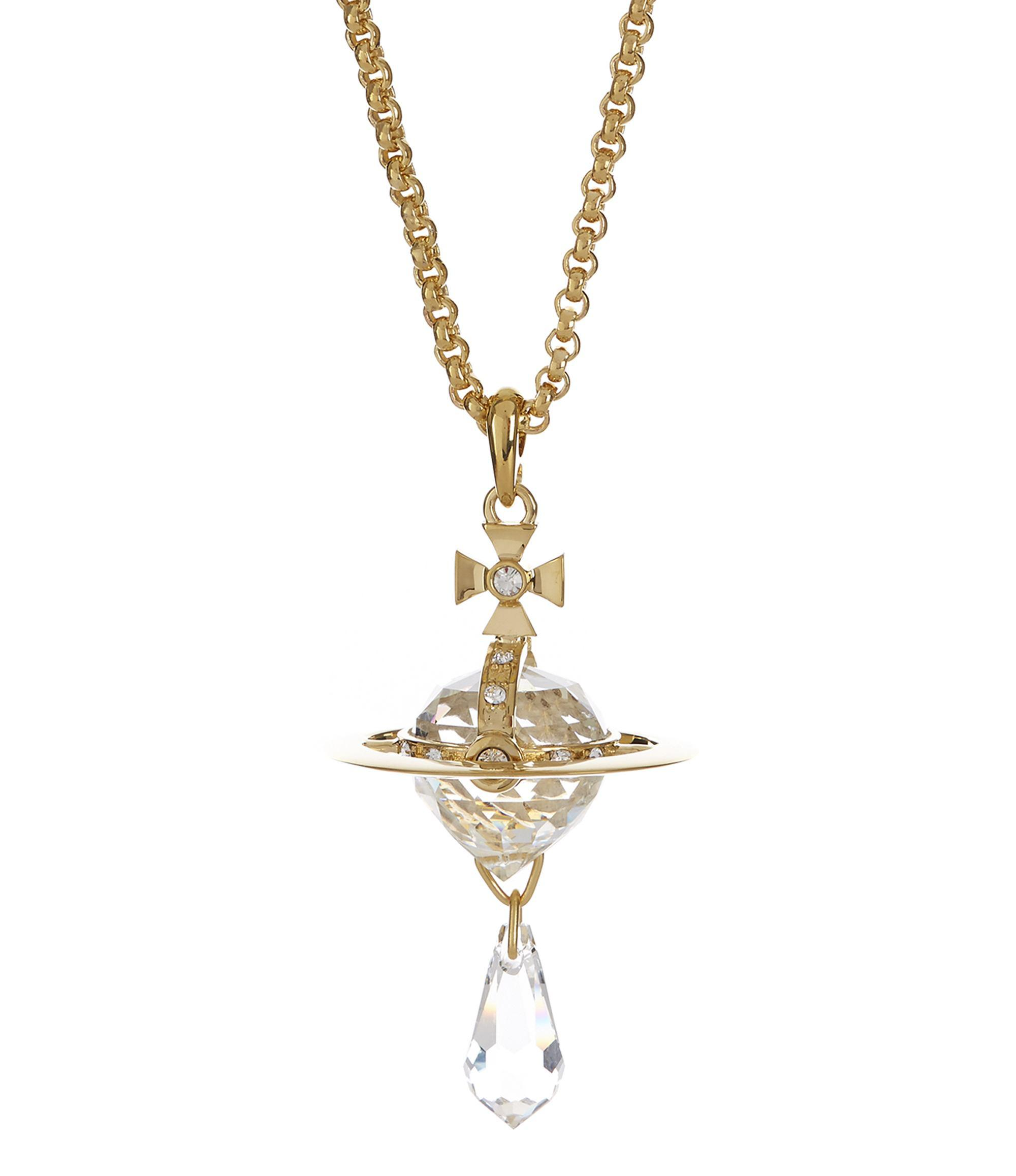 c40215ae5e9e43 Vivienne Westwood Crystal Orb Small Pendant Gold Plated in Metallic ...