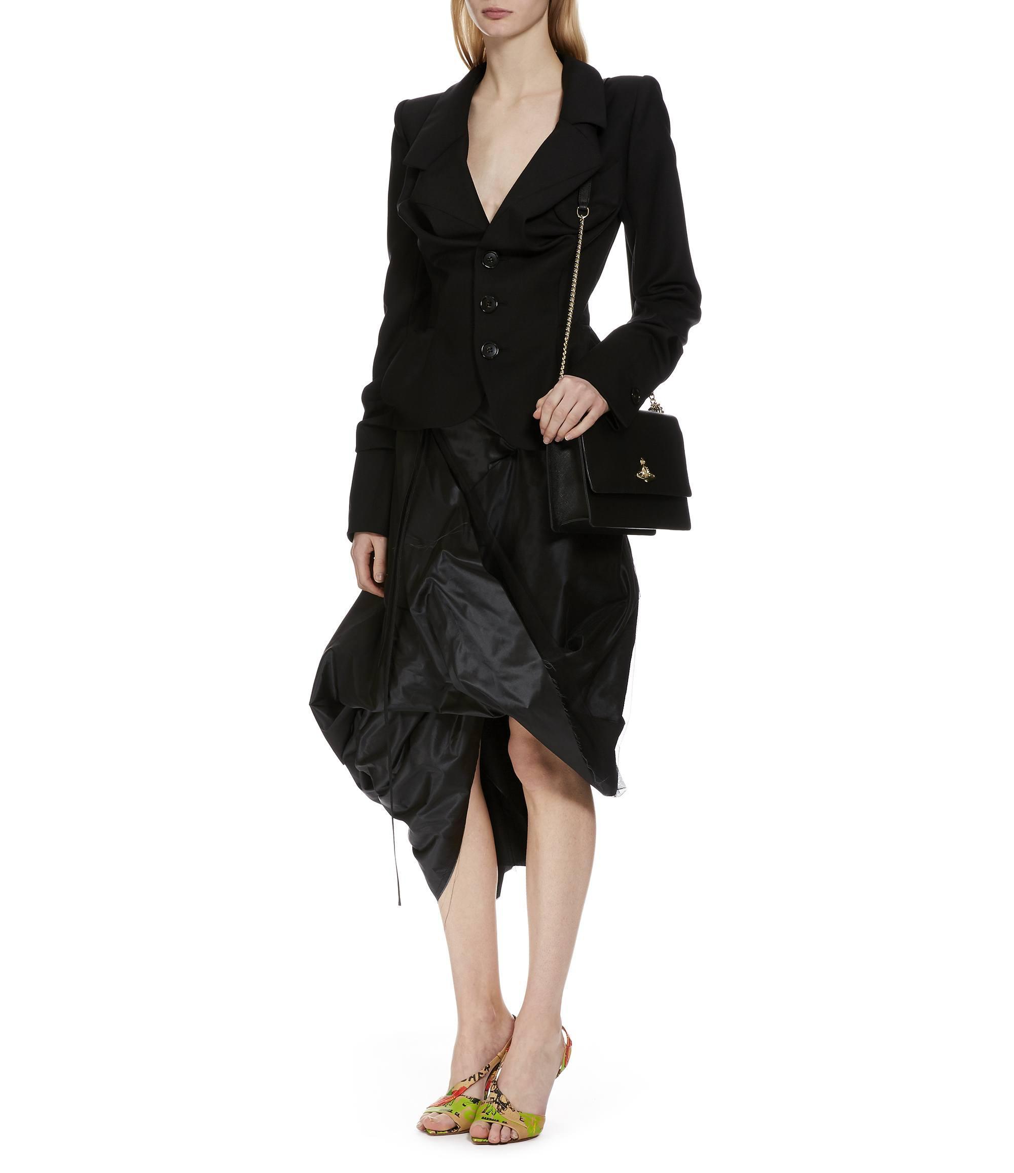vivienne westwood large pimlico bag 41020002 black in black lyst. Black Bedroom Furniture Sets. Home Design Ideas