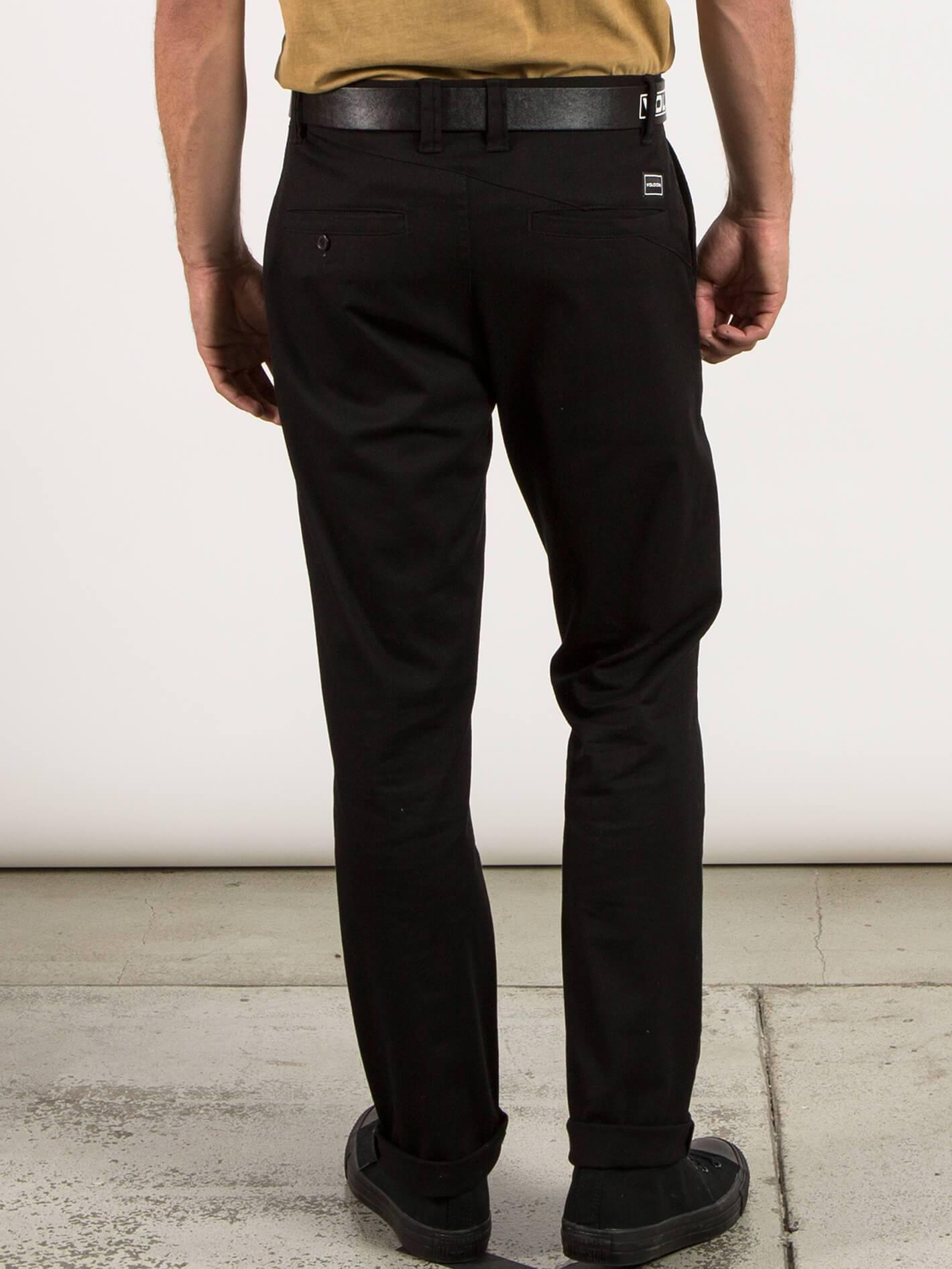 cb822777 Lyst - Volcom Frickin Modern Stretch Chino Pants in Black for Men
