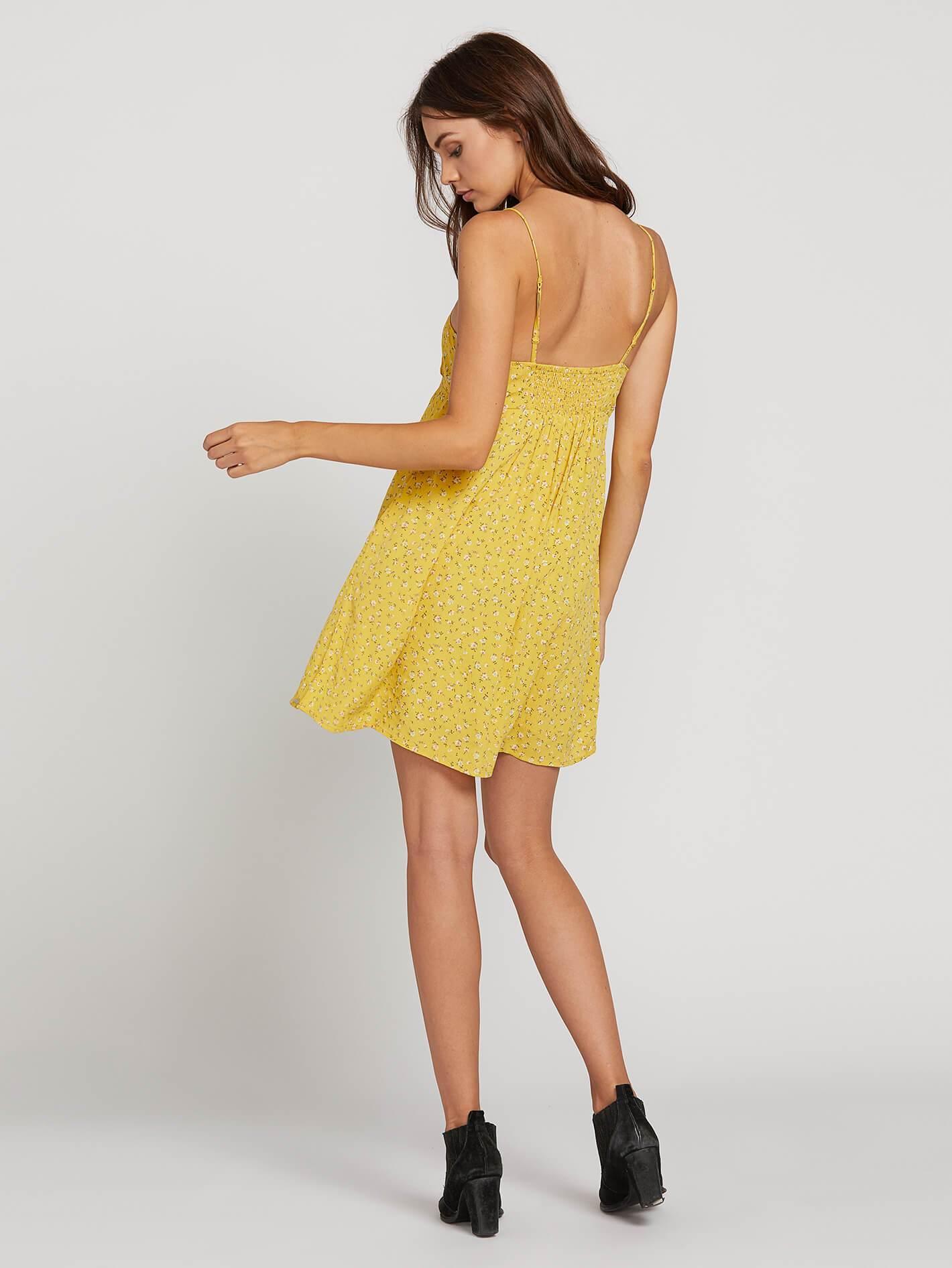 67842e0eeecf Volcom Hey Bud Cami Dress in Yellow - Lyst