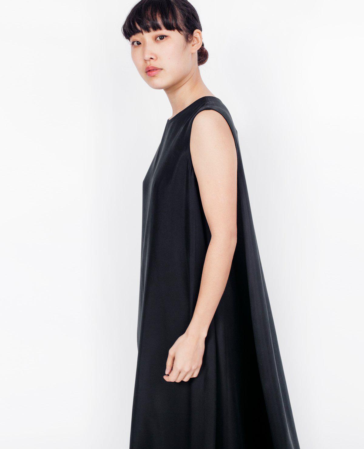 67ea35b3b27 Lyst - Kaarem Overlap Maxi Dress   Meteorite Black in Black