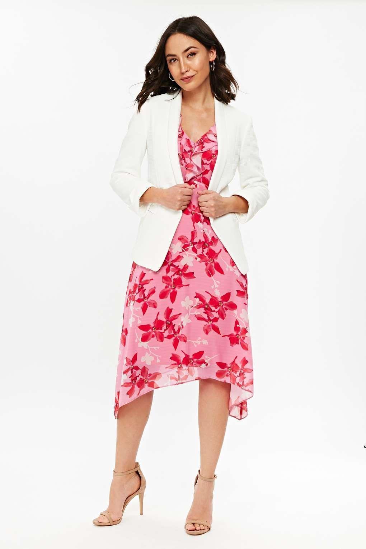5458feaaae Wallis Pink Petal Ruffle Graduated Dress in Pink - Lyst
