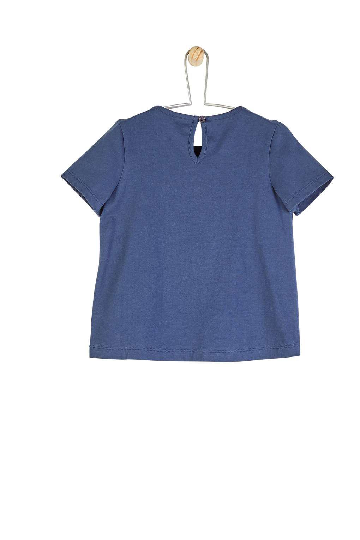 04bdd67e10f9 Wallis   girls Navy Broderie Front T-shirt (18 Months - 6 Years) in ...