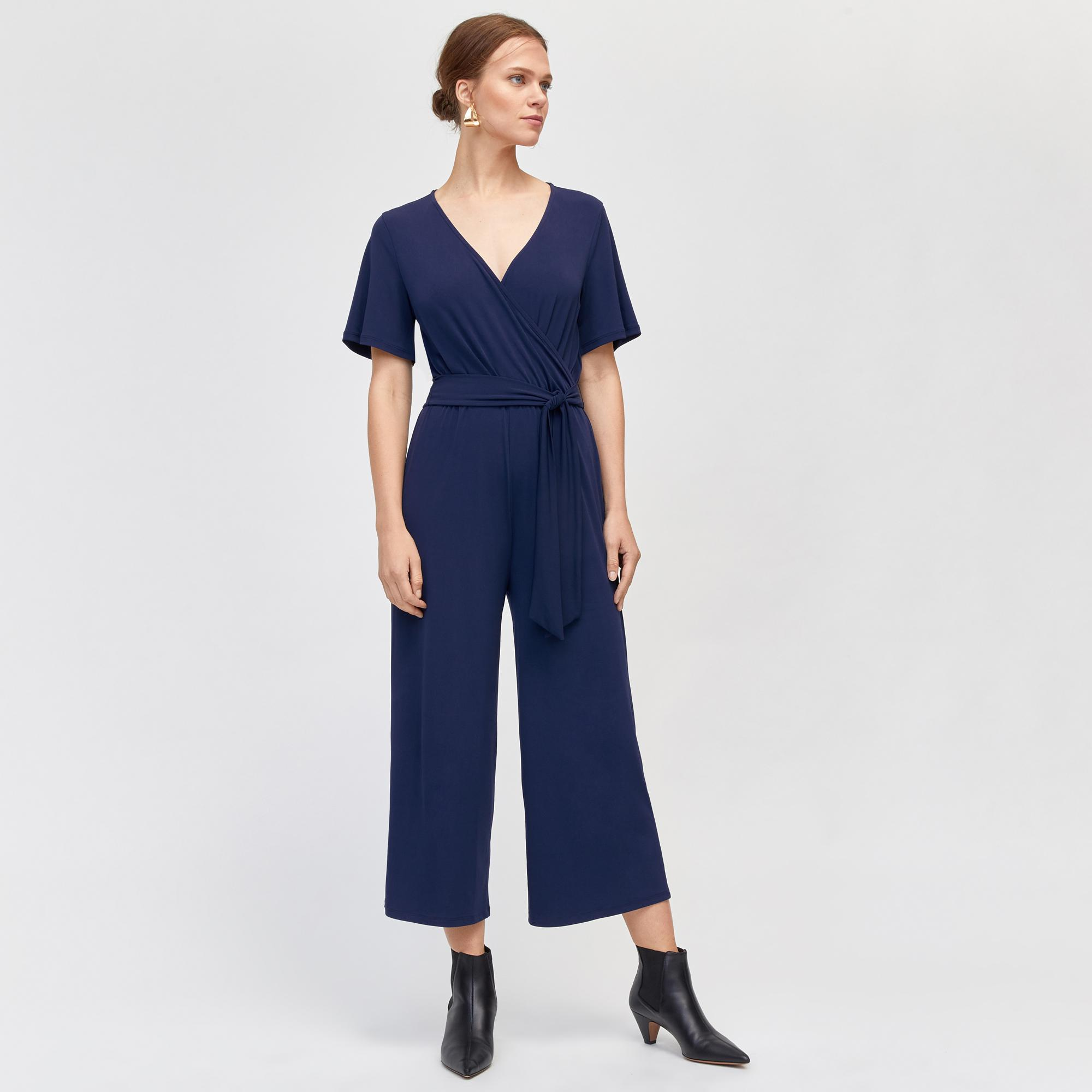 e854c5885743 Warehouse Slinky Culotte Jumpsuit in Blue - Lyst