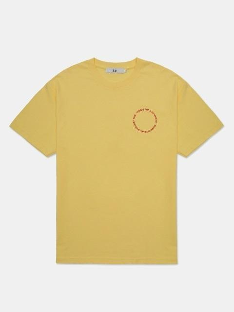 a903e23575e Lyst - LIT. Words And Meaning T Shirt Yellow in Yellow for Men