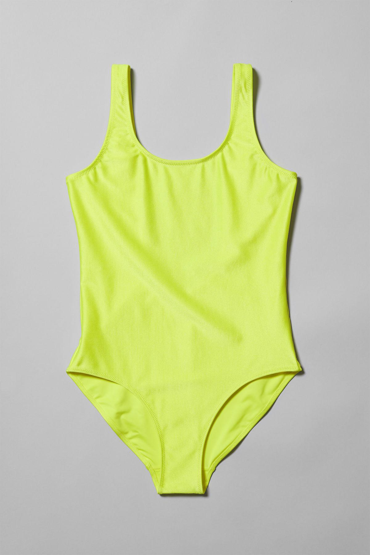 34a8b5545aed85 Weekday Day Swimsuit in Yellow - Lyst