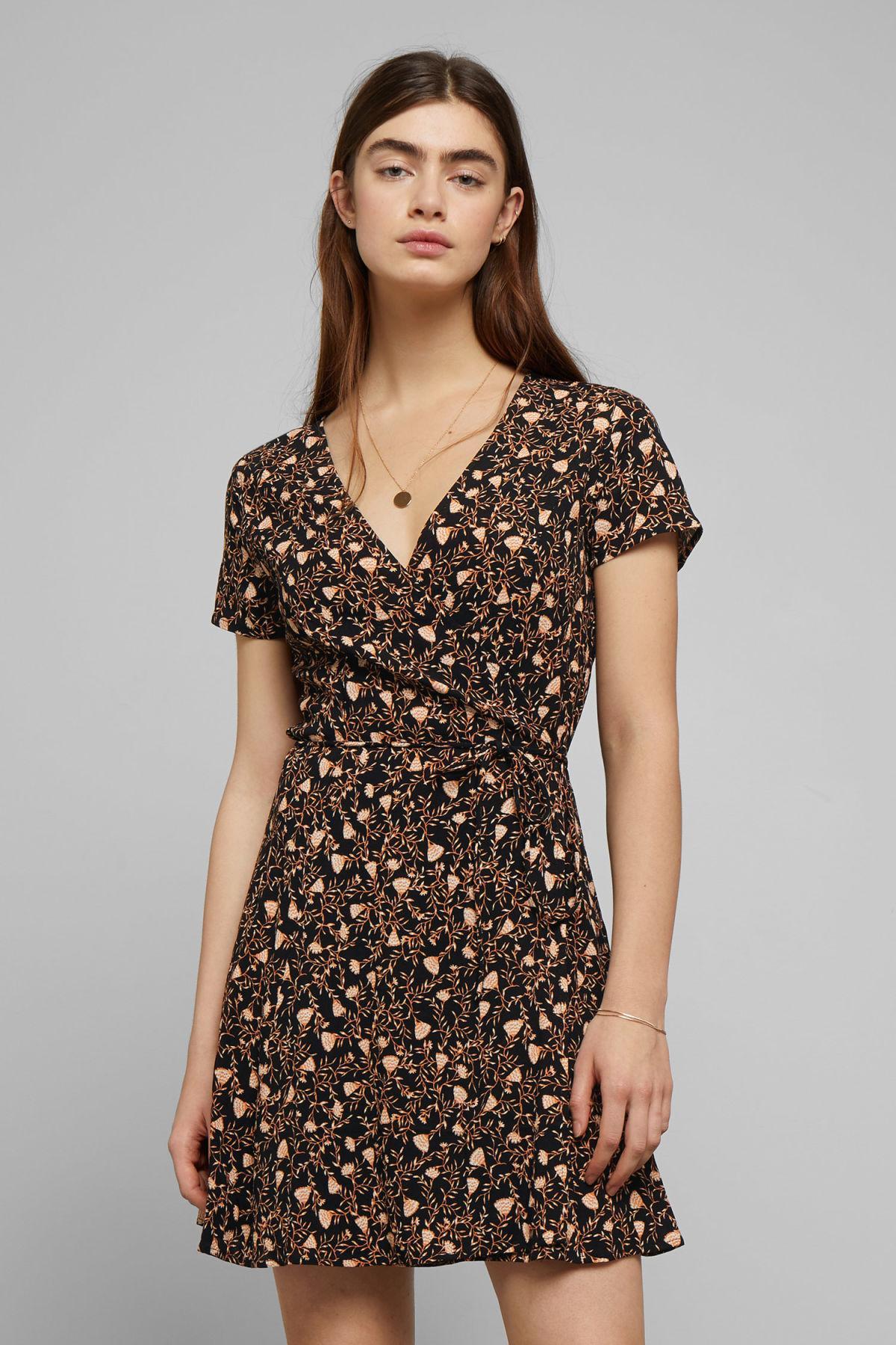 a89fcb76c8 Weekday Imogen Wrap Dress in Black - Lyst