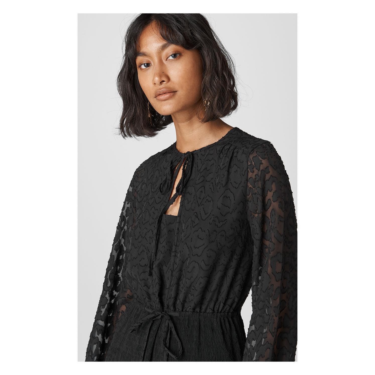 0a060ffb06c08a Lyst - Whistles Nicolette Animal Devore Dress in Black