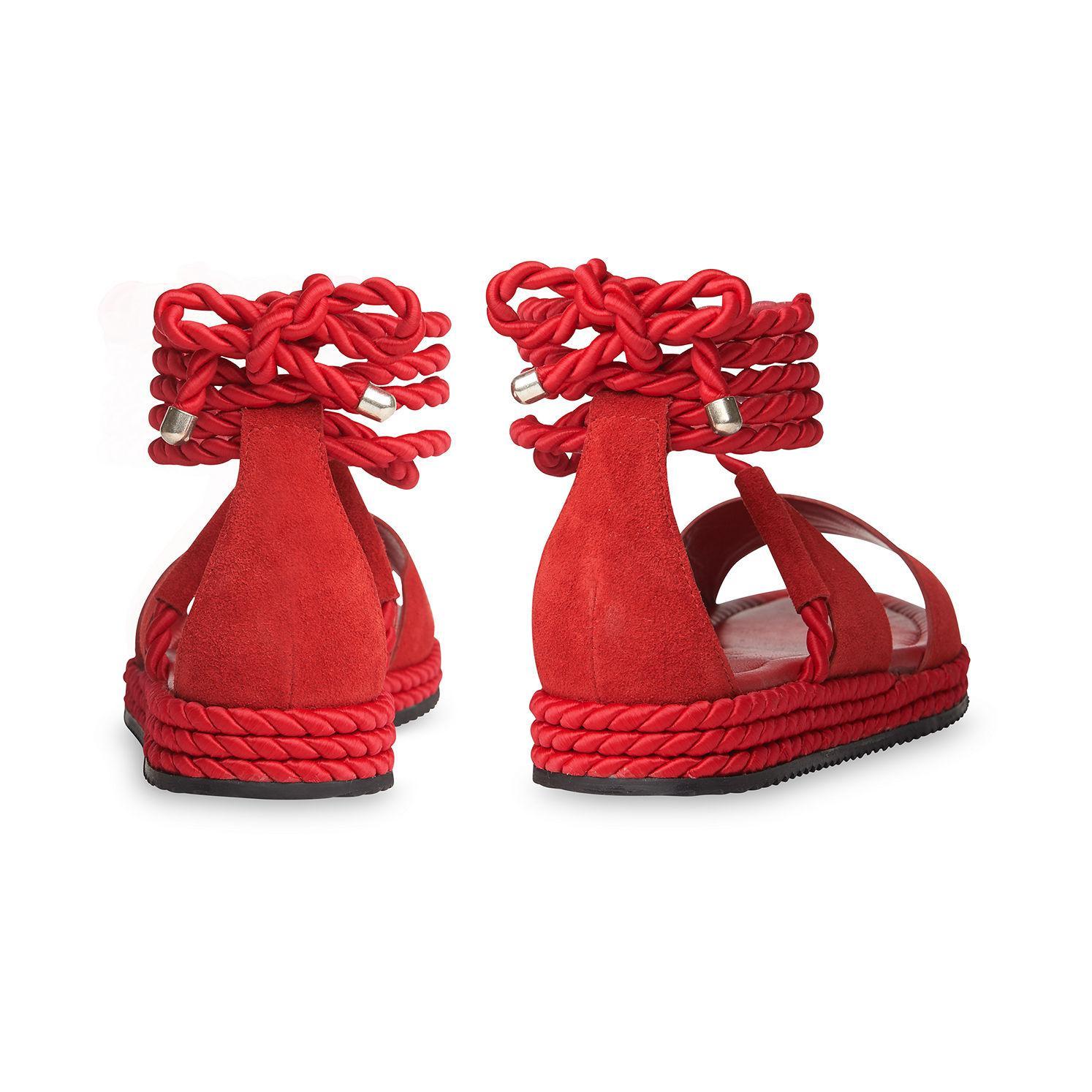 5734d232579a ... Mimosa Rope Flatform Sandals - Lyst. View fullscreen