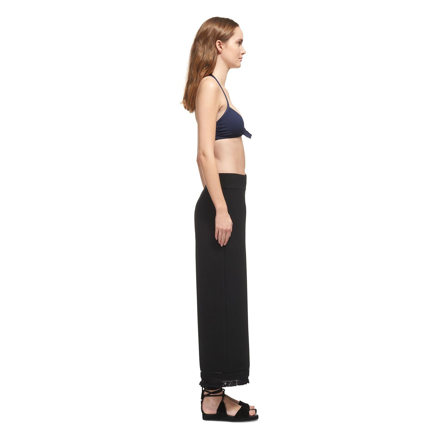 b320cd987f82b Lyst - Whistles Carolina Tie Front Bikini Top in Blue - Save ...