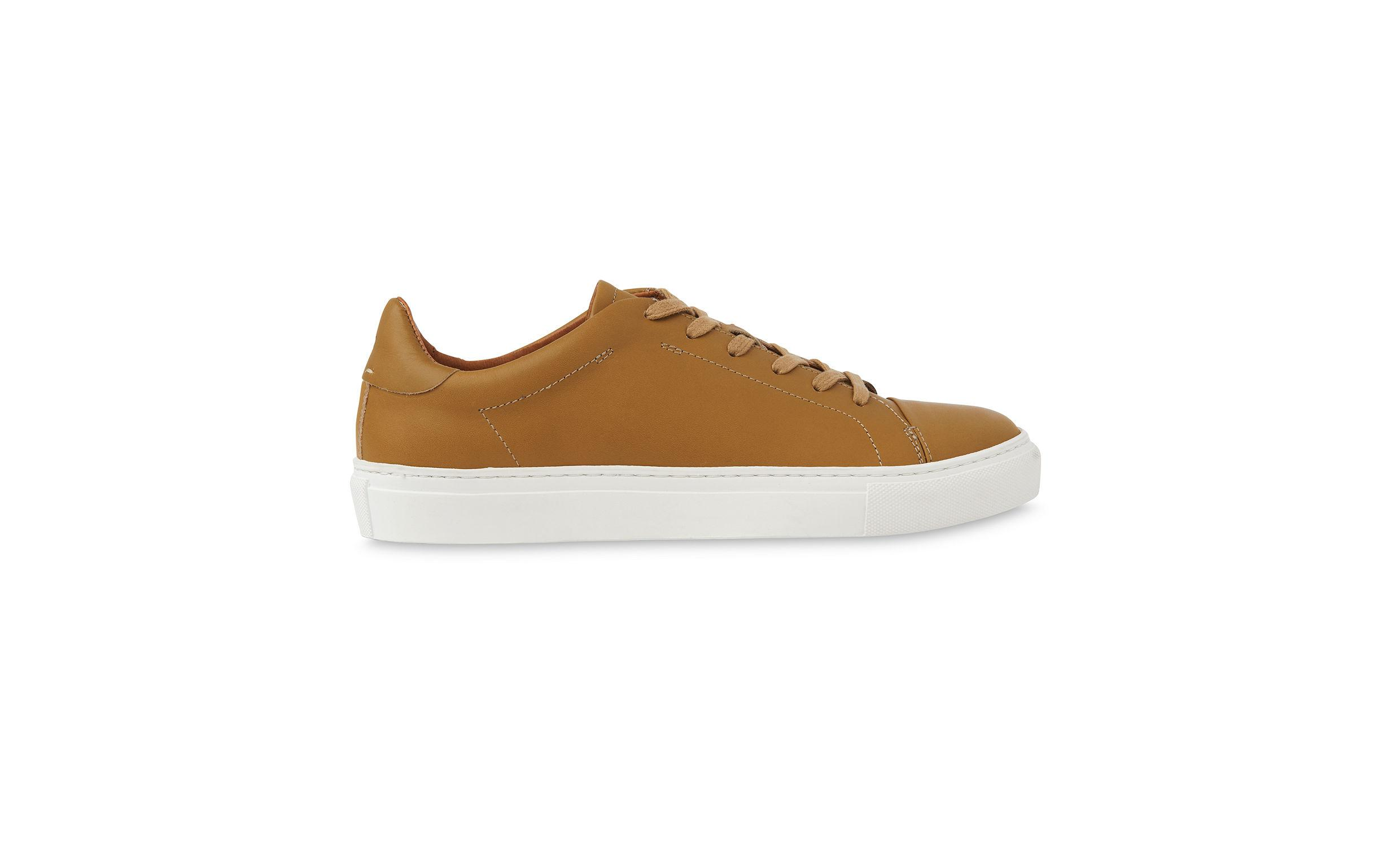 new arrival 74fb7 788fd whistles-Mustard-Low-Top-Leather-Trainers.jpeg