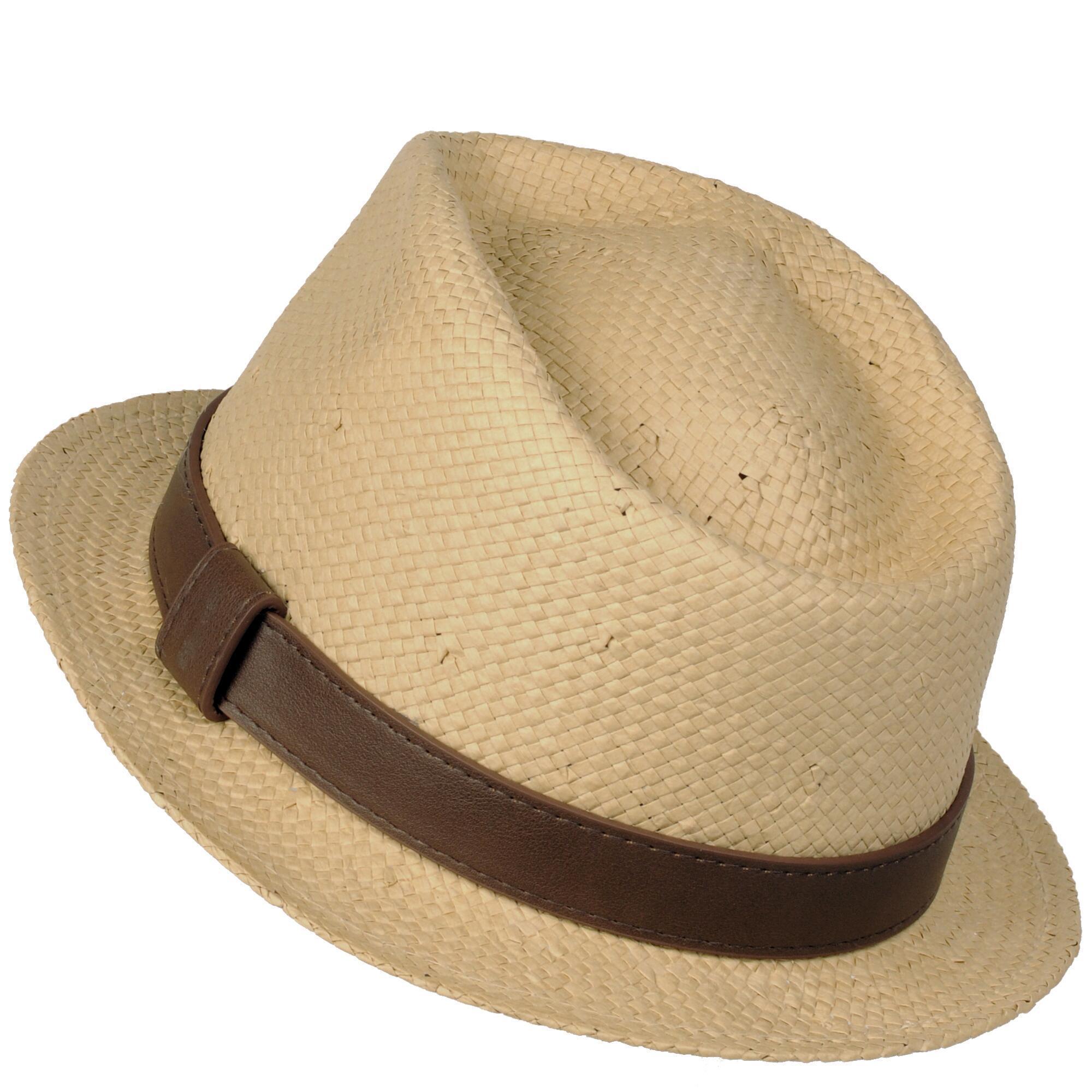 db41a98d359 Wilsons Leather - Natural Paper Flat Brim Fedora Hat for Men - Lyst. View  fullscreen