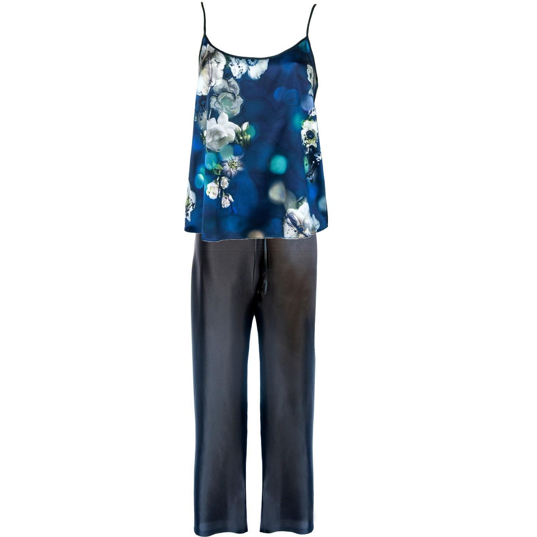 00e35999c1 StephieAnn Navy Blue Silk Pyjamas in Blue - Lyst
