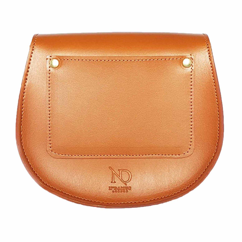 8c855fb7f059 ... Brown Mini Victoria Amaka African Print Leather Crossbody Saddle Bag -.  View fullscreen