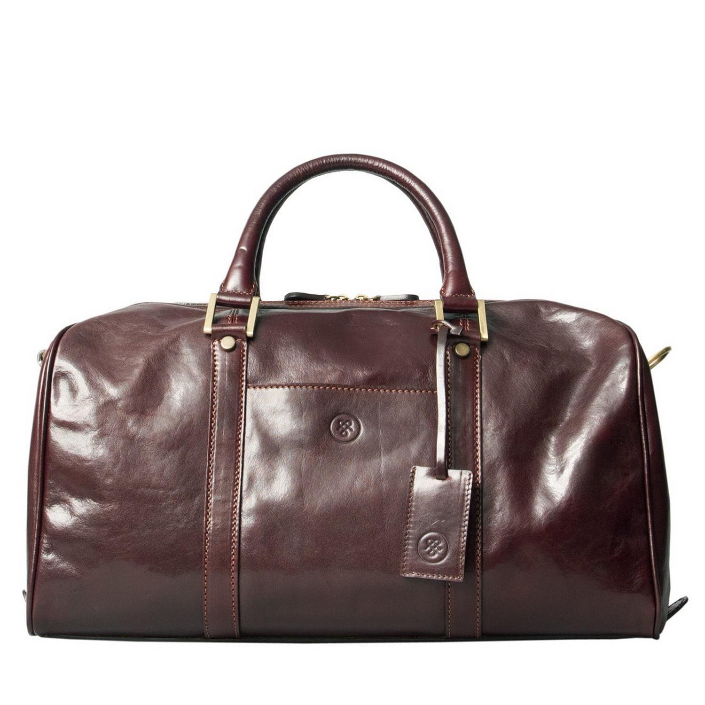 d2dbce0b40 Maxwell Scott Bags Luxury Italian Leather Small Travel Bag Fleros ...