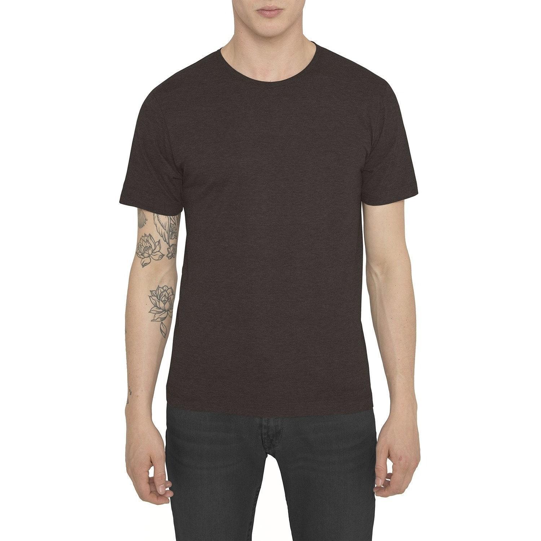 Raddar7 Casual Luxe Sport Dark Brown Crew T-shirt in Brown ...