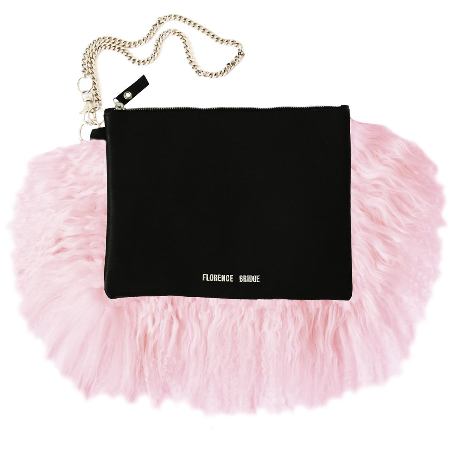Florence Bridge Fluffy Bianca Clutch Bag Pink in Pink - Lyst 10d73125fcac7