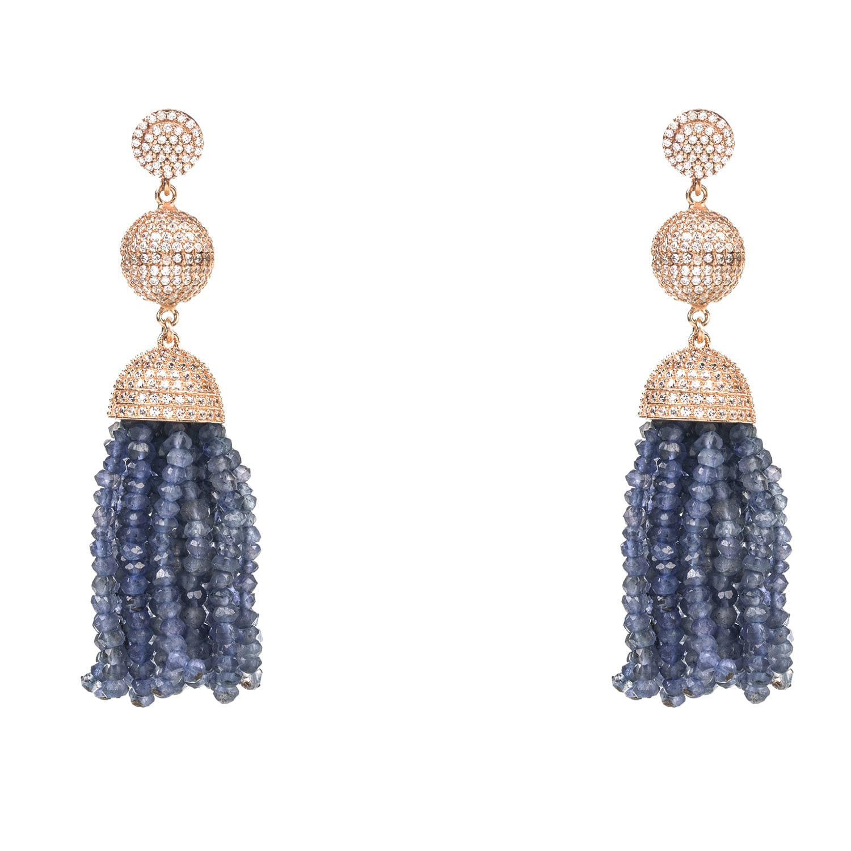 Latelita London Tassel Ball Smoky Quartz Earrings lQ3x006n