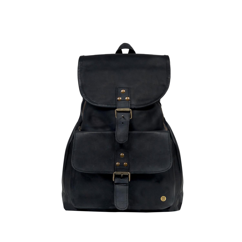 MAHI Leather Explorer Backpack rucksack Womens In Ebony Black in ... c7941d2667a70