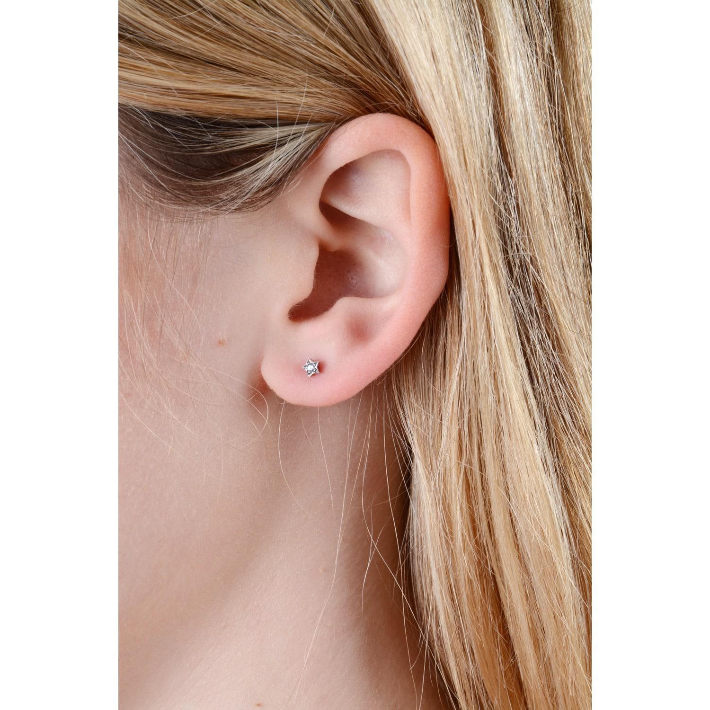 c46bdc8b5 Lyst - Lee Renee Tiny Star Earrings Sapphires & Silver in Metallic ...