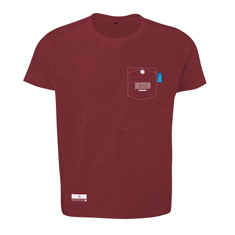 Lyst anchor crew fire brick red travel print organic for Organic cotton t shirt printing