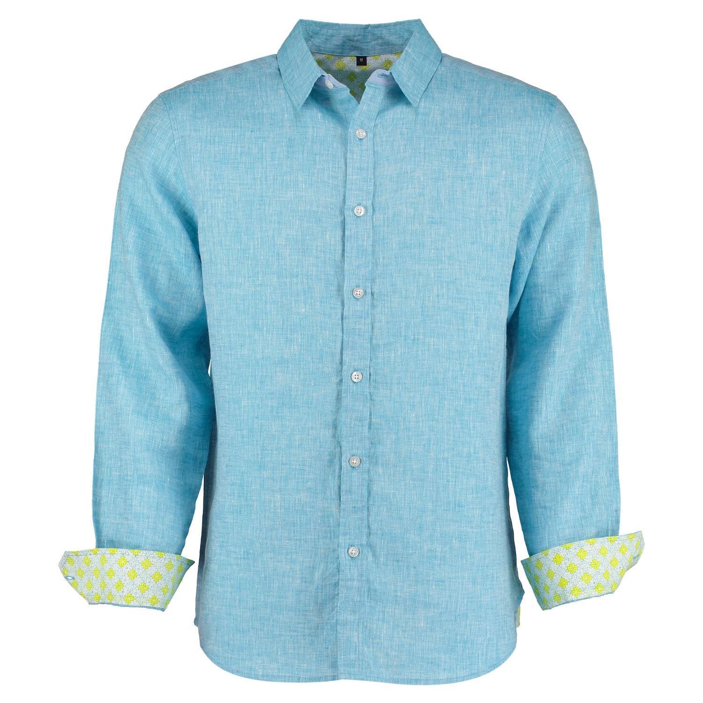 Lyst tobias clothing karnatake light blue linen shirt in for Mens light blue linen shirt