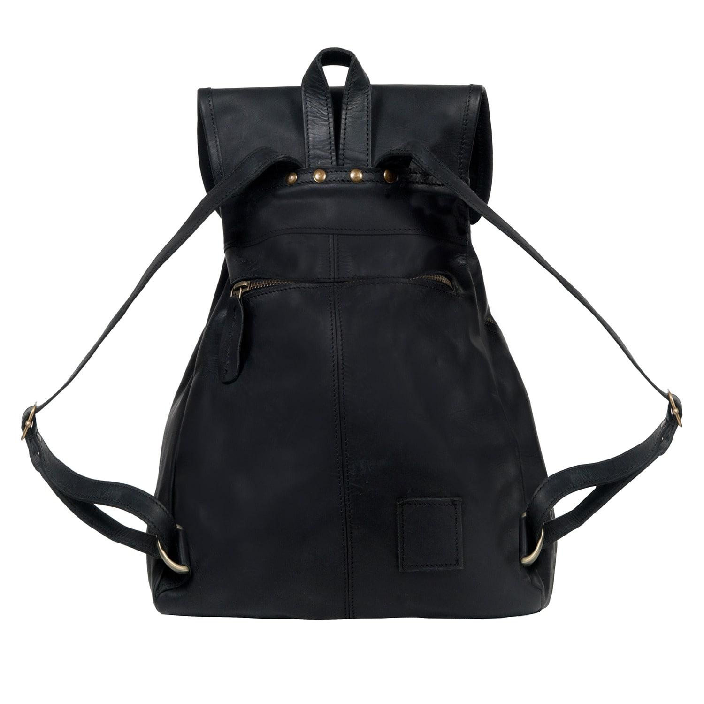 MAHI Leather - Leather Explorer Backpack rucksack Womens In Ebony Black -  Lyst. View fullscreen 804e7aa18b694