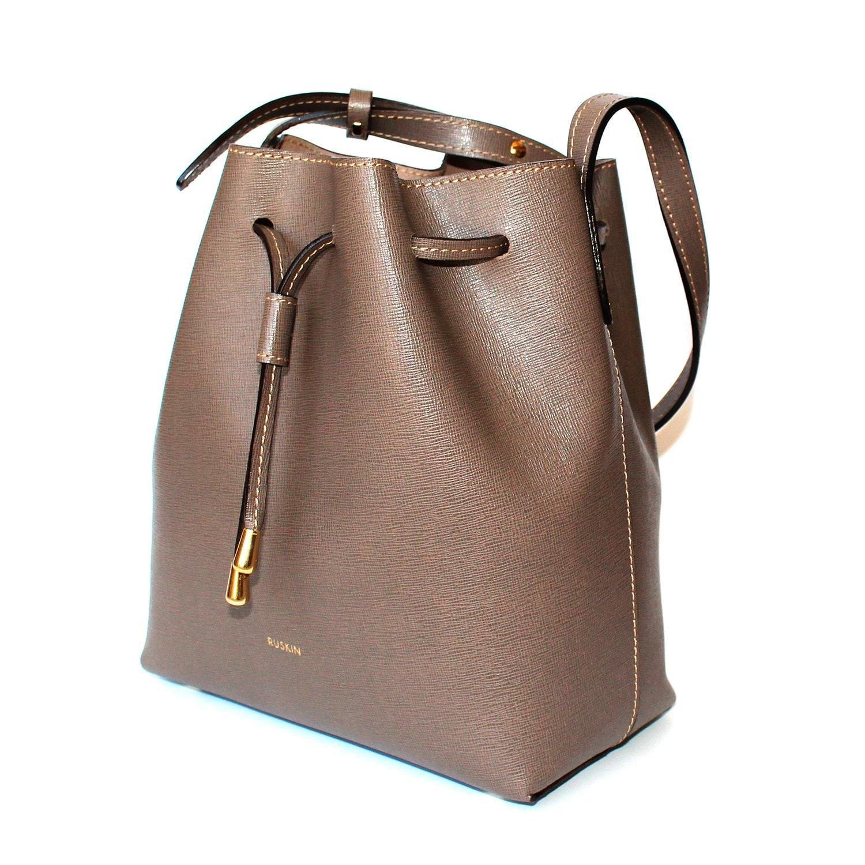 Ruskin Nara Mini Bucket Bag Oxford Mud in Brown