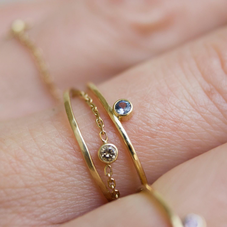 Lyst - Irena Chmura Jewellery Azure Single Drop Ring