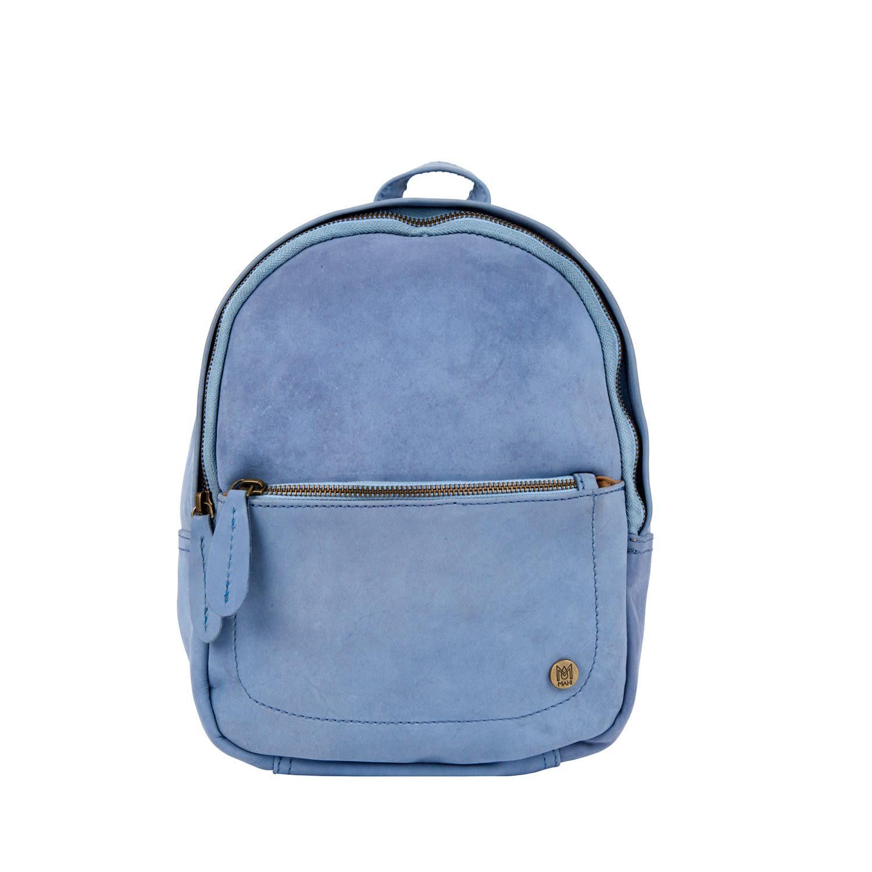 Lyst - MAHI Mini Backpack In Pastel Blue Suede Leather in Blue ff036e69ada12