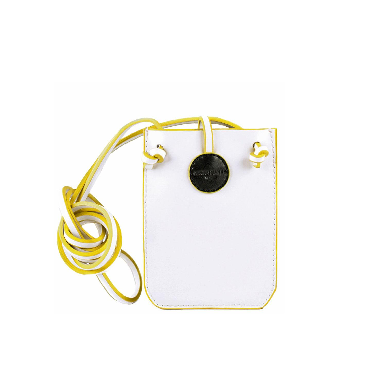 b7bb153533cc Charlie Baker London - Cambridge Leather Phone Crossbody Bag White - Lyst.  View fullscreen