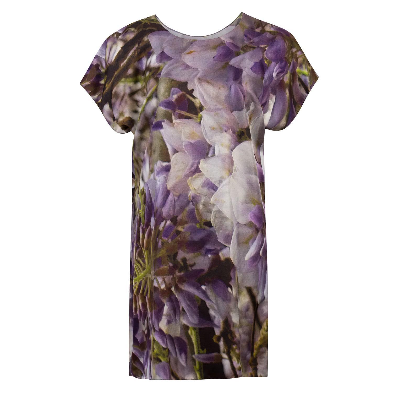 20e6475a Lyst - Claire Andrew Wisteria Print Dress in Purple