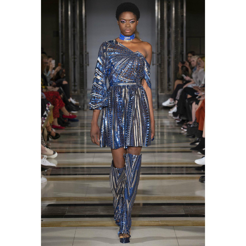 674a999ed54 Jiri Kalfar - Blue   Gold Sequin Dress - Lyst. View fullscreen