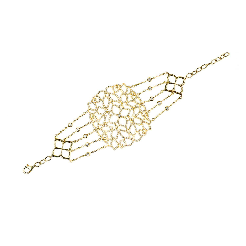 Latelita London 22kt Rose Gold Vermeil Micro pave Filigree Bracelet owNaSFw1uN