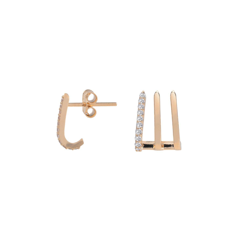 Jezebel London 14kt Rose Gold & Diamond Split Soho Earring fRSmTg