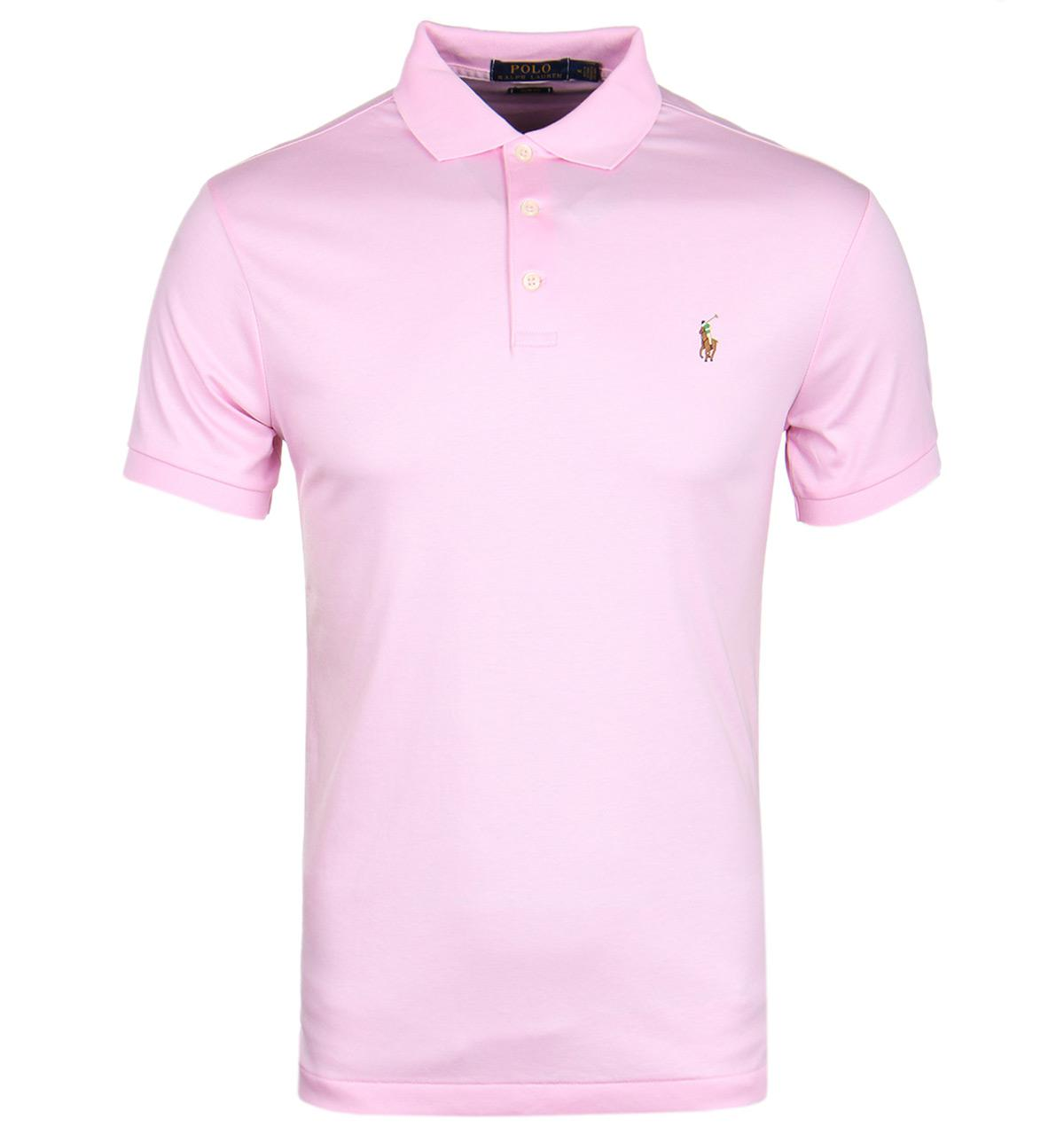 Polo ralph lauren bath pink slim fit polo shirt in pink for Baby pink polo shirt