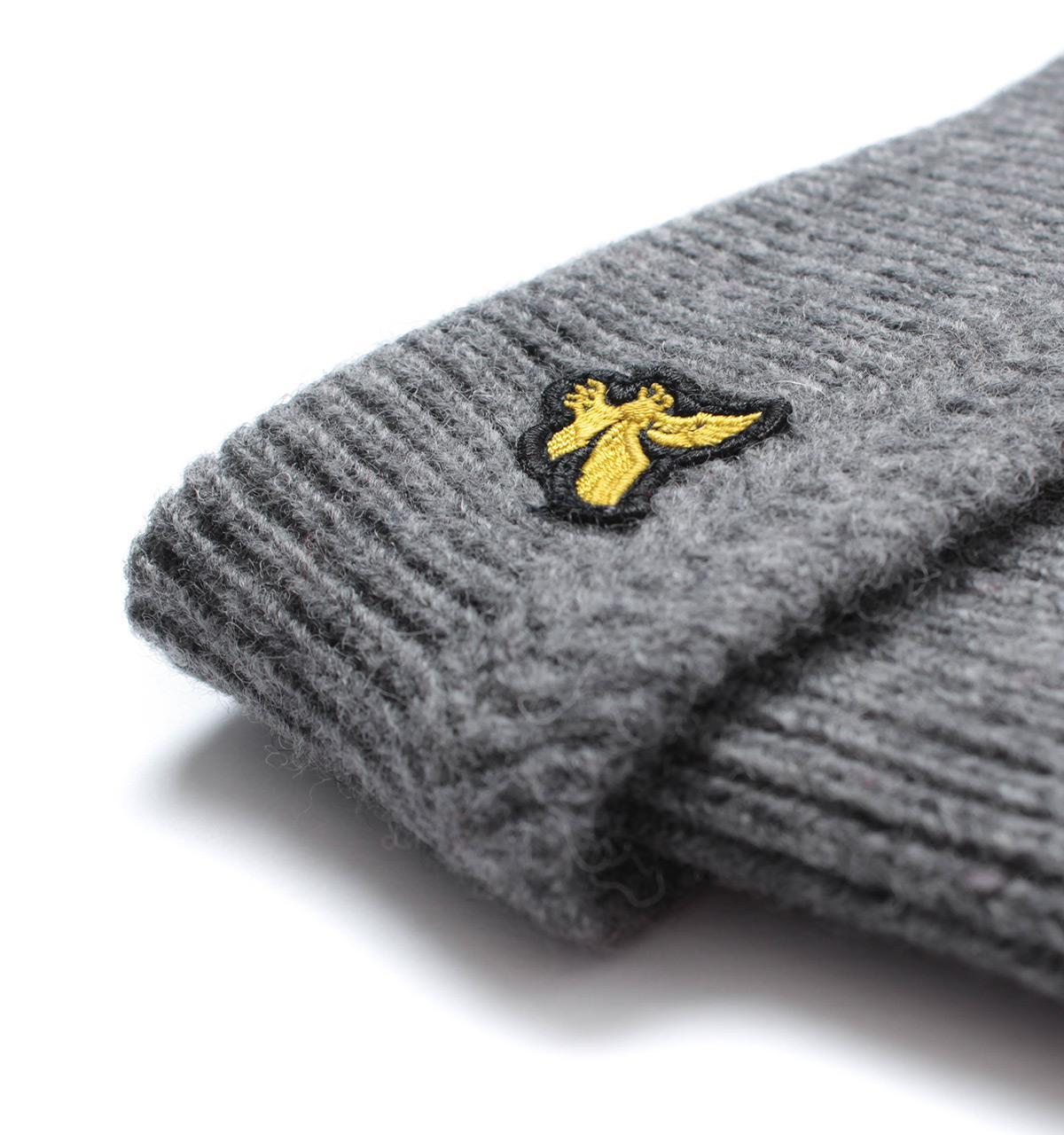 fd3c566b Lyle & Scott Grey Marl Racked Rib Beanie Hat in Gray for Men - Lyst