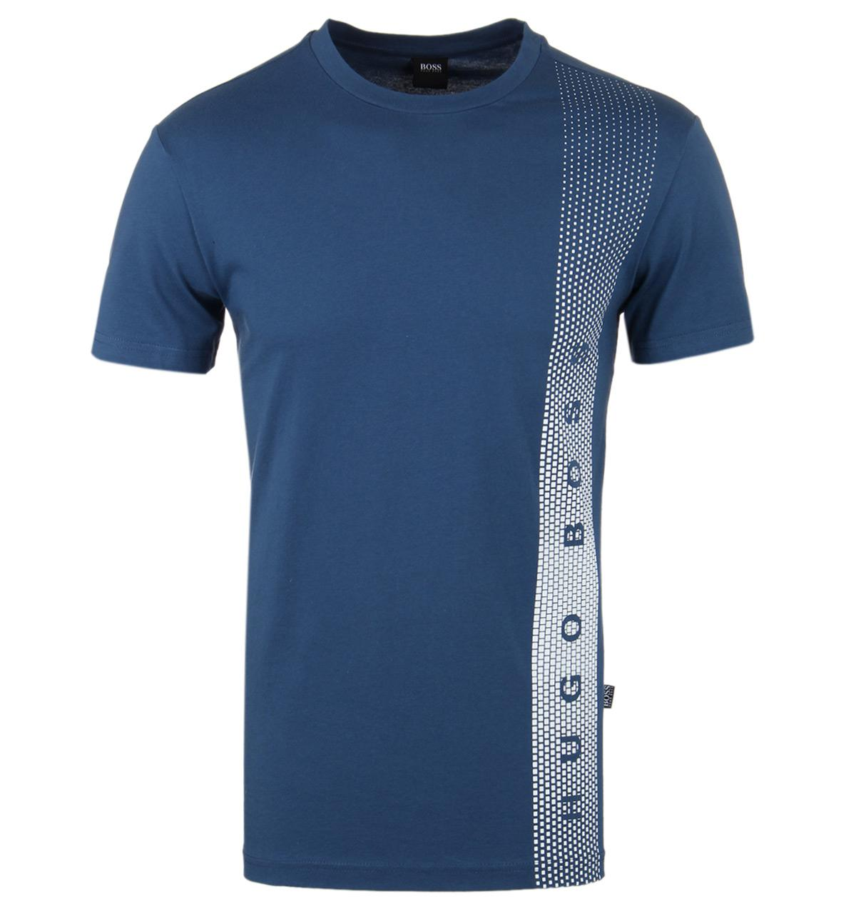 Boss dark blue slim fit rn uv protection t shirt in blue for Uv protection t shirt